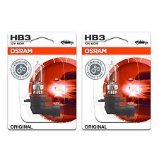 2x Ford Puma HB3 Genuine Osram Original High Main Beam Headlight Bulbs Pair