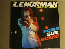 GERARD LENORMAN PARIS SUR SCENE 2LP ORIG '82 RARE FRENCH POP CHANSON IMPORT VG+