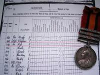 Victorian British Boer War QSA medal 3 bar TL OFS CC Pte T West Lincolnshire Rgt