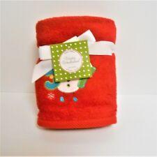 "Winter Wonderland Set of 2 Red Christmas Hand Towels Snowman ""Joy"""