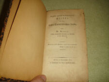 Antique German RARE BOOK-1804-Butte-Giefen U Darmftadt-Handmade Pages-Hardcover