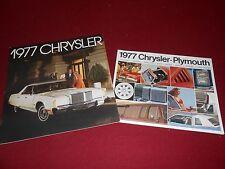 1977 CHRYSLER NEWPORT, NEW YORKER, T&C SALES BROCHURE + 20 p. FULL-LINE CATALOG