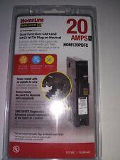 NEW Square D Circuit Breaker HomeLine 20 Amp Dual CAFI/GFCI HOM120PDFC