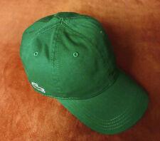 LACOSTE Gabardine Side Crocodile Strapback Cap Green Strap Back Kappe Mütze