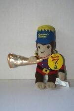 """8"""" Curious George Stuffed Animal Holding Trumpet With Tags"""
