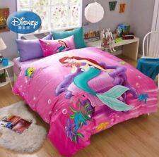 3pc 5pc. Disney's Little Mermaid Twin full Queen 100% Cotton Duvet Comforter Set