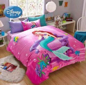 3pc 5pc. Disney's Little Mermaid Full Queen 100% Cotton Duvet Comforter Set