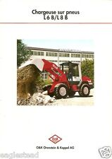 Equipment Brochure - O&K - L 6 B / L 8 B - Chargeuse Loader c1996 French (E1918)
