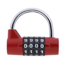 4 Digit Dial Combination Suitcase Luggage Code Password Lock Padlock Travel New