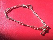 Anklet Twist Link Chain 192mm, 4.79g 9ct 375 Solid Gold Bracelet /