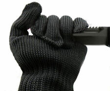 Cut Resistant Made with Kevlar Gloves Working Protective Safety Steel Black Pair