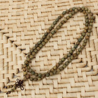Fragrant Green Sandalwood 108 8mm Buddhist Prayer Beads Mala Necklace/Bracelet