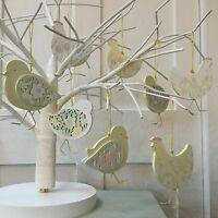 Spring Garden Tulip Daffodil Chick Easter Decoration Tree Gisela Graham Hanging