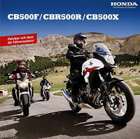 1016HONMO Honda CB500F CBR500R CB500X Prospekt 2013 2/13 brochure catalog moto