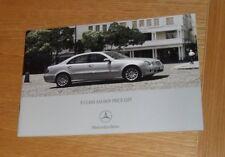 Mercedes E Class Saloon Price List 2007 E220 E280 E320 CDI E350 Sport Avantgarde