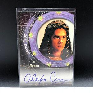 STARGATE AUTOGRAPH CARD SG-1 signed auto A4 Skaara skara Alexis Cruz insert RARE