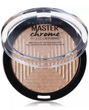 Maybelline NY Master Chrome Molten Gold  Face Studio 100 Metallic  Highlighter