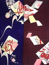 Vintage Japanese Silk Kimono Fabric Sample Panel Quilting Patchwork
