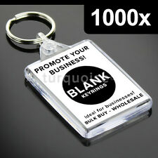 1000x Premium Quality Clear Acrylic Blank Photo Keyrings Key Fobs 50 x 35 mm