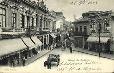 brazil, SÃO PAULO, Largo do Rosario, Shops, Horse Cart (1902)