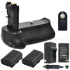 Battery Grip for Canon EOS 70D BG-E14 + 2x LPE6 Batteries + Charger + Remote