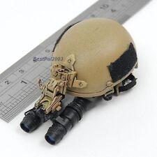 1/6 Scale BBI US Navy Seal Team 3 HAHO Desert Ops Helmet w/ NVG