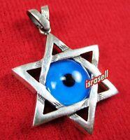 STAR OF DAVID & EVIL EYE PROTECTION PENDANT - Judaica Jewelry Gift