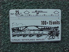 CURACAO 100+15 unit Phonecard D2 1st Issue Bridge USED