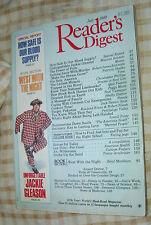 READER'S DIGEST 1988 JULY BLOOD;JACKIE GLEASON;POLLS;FISH;PAKISTAN;INTIMACY;OTC