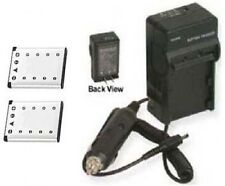 2 Two Batteries + Charger for Olympus FE-160 FE-190 FE-220 FE-230 FE-240 FE-250