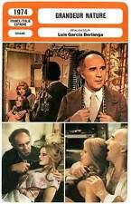 FICHE CINEMA : GRANDEUR NATURE - Piccoli,Aumont,Tessier,Berlanga 1974