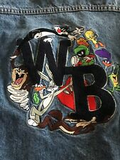 VTG 1990s Men's Small Warner Bros Looney Tunes WB Embroidered Denim Jacket