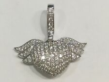 Sparkling 1.7ct diamonds, 18ct white gold Theo Fennell winged heart pendant