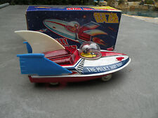 Milky Way Boat sparkling space ship tin friction toy NEW 1970's China MF215