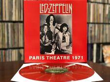 """Led Zeppelin """"Paris Theatre 1971"""" LP Rare EU Import Red Color Vinyl NM"""