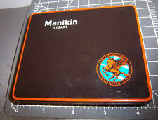 Manikin Cigar tin, from England, great graphics & color, empty, 4.25 x 3.5 inch
