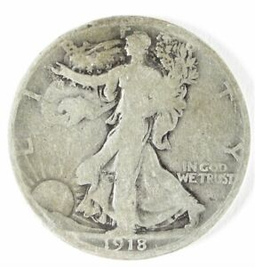 1918-S Walking Liberty Silver Half Dollar San Francisco Mint Good