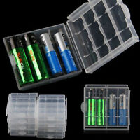 2/4/6x Universal AA/AAA Battery Storage Box Hard Plastic Clear Case Cover Holder