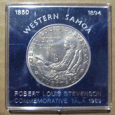 1969 $1 Western Samoa Commemorative Coin Robert Louis Stevenson Take a Look