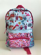 Monsoon Accessorize Angels backpack bag girl badger owl flowers outdoors NEW+TAG