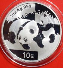 China: 10 yuanes 2008 plata 1 Oz panda, # f 2515, Super Rare