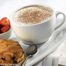 New Set Of 2 Pure White Tea Coffee Latte Cappuccino Cups 340ml 12oz Porcelain