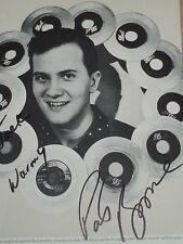 Pat Boone hand signed Magazine photo