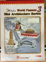 MINI ARCHITECTURE SERIES 3, 3D PRETROQUELADO CUBICFUN 100pcs,REF.C086H