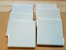 "Lot of 6 Vintage Blue Ceramic Bathroom Wall Tiles 4 1/4"" x 4 1/4"" Used"