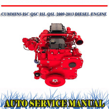 CUMMINS ISC QSC ISL QSL 2009-2013 DIESEL ENGINE WORKSHOP SERVICE MANUAL ~DVD