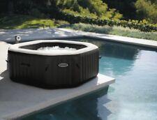 Outdoor Whirlpool Intex Jet + Bubble Deluxe Kalkschutz + Salzwasser 28454