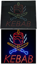 Enseigne lumineuse Panneau à LED KEBAB multicouleur 40x40x2.5cm