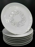 Replacement Pieces Rosenthal Continental China JET ROSE Pattern Mid Century Raymond Loewy Black Rose Plates 2 Continental China Plates