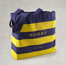 Ralph Lauren Polo Rugby Tote Bag Beach Grocery Reusable Organic Cotton NEW